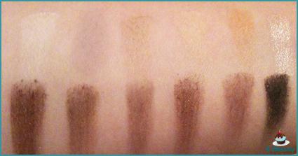 sleek eyeshadow palette au naturel swatch