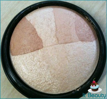 Pó Iluminador Facial Gold Baked Make B Boticário