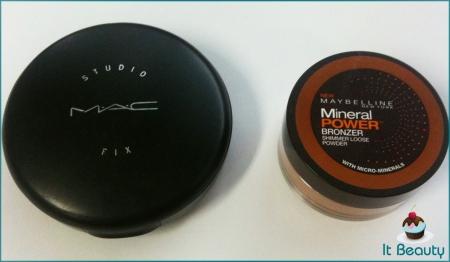 A Studio fix é o produto da esquerda.