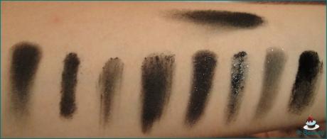 Black Eyeshadow swatch NYX Revlon Wet n Wild Marcelo Sleek Marchetti