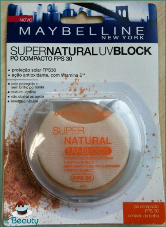 maybelline pó compacto uv block fps30