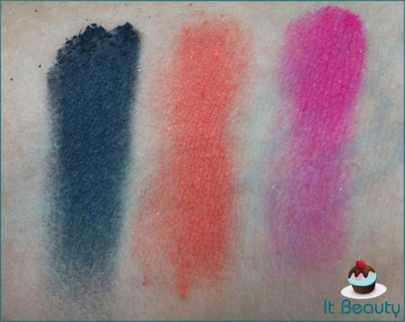 swatches novas sombras marcelo beauty Tormenta, Pitanga e Pink Paixão