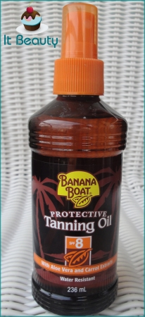 Tanning oil banana boat fps 8