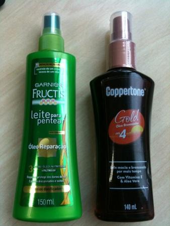Leite pentear com FPS Garnier Coppertone Oleo Bronzeador
