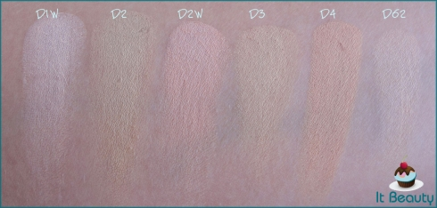 Kryolan Dermacolor refil D1W D2 D2W D3 D4 D62  swatch