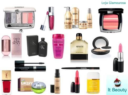 Loja Glamourosa Dior Chanel MAC Loreal CK 212 Lancome YSL