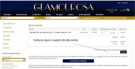 Cupom Loja Glamourosa desconto