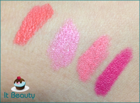 Batons MAC: Watch Me Simmer, Naughty Saute, Viva Glam Nicki e Quick Sizzle