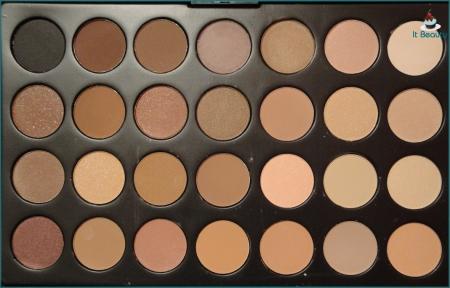 Paleta sombras 28 cores neutras