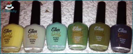 Ellen Gold esmaltes verdes cinza amarelo