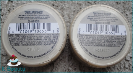 Loreal Touch on Color Go Go Gold e Cashmere Rose verso