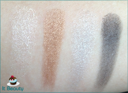 Hello Kitty Sephora Noir eye shadow palette. swatch