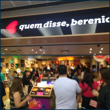 Quem Disse Berenice inauguração shopping metrô tatuapé