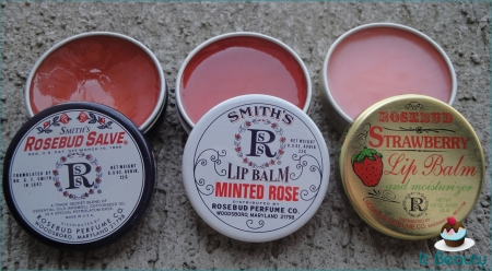 Smith's Lipbalms Rosebud Salve Minted Strawberry