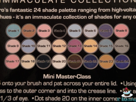 MUA Immaculate Collection shadows