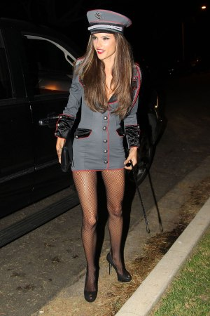 ALESSANDRA AMBROSIO Arriving at Halloween Party