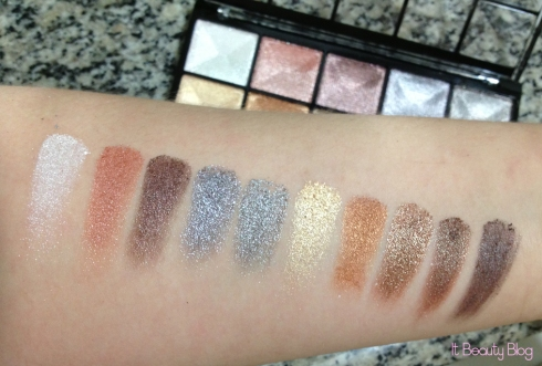Fenzza Paleta de sombras 3D Super Fashion swatch