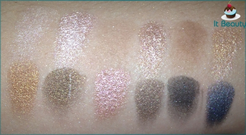 MUA Undressed Eyeshadow Palette swatch flash