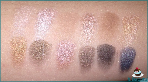 MUA Undressed Eyeshadow Palette swatch