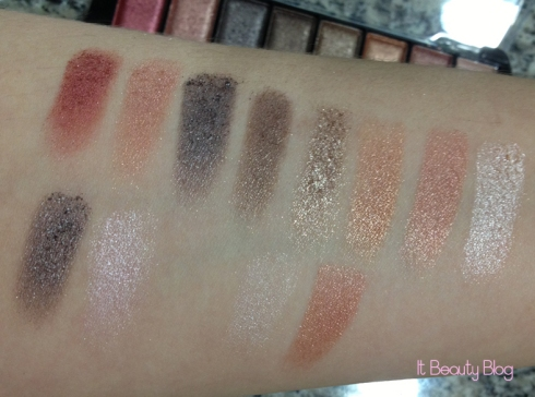 Paleta de sombras 3D Fashion Glam - 12 cores Fenzza Make Up Fashion - G4 swatch