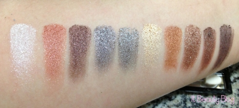 Paleta de sombras 3D Super Fashion Fenzza Make Up - G4 - 10 cores swatch