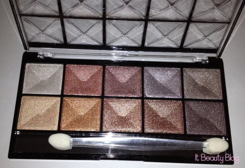 Paleta de sombras 3D Super Fashion Fenzza Make Up - G4 - 10 cores