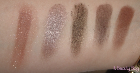 sombras unitárias marrons mia swatch fileira superior