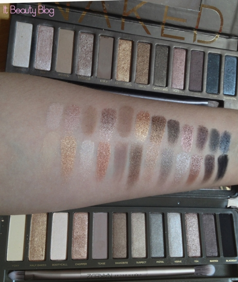 Urban Decay Naked 1 e 2 swatch