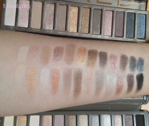 Urban Decay Naked 1 e 2 swatches