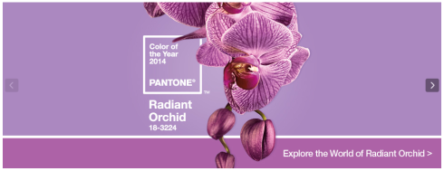 Pantone Radiant Orchid color for 2014