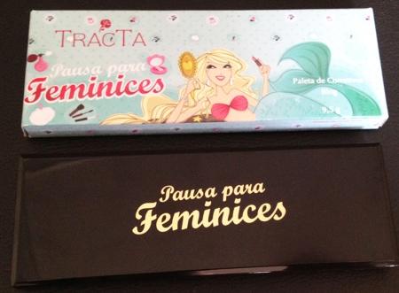 Paleta de Corretivos Pausa para Feminices para Tracta embalagem