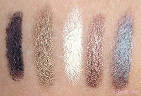 Lápis sombra Ruby Kisses Toxic -Lickable -Naked Truth - Dirt Bronze e Femme Fatale swatch