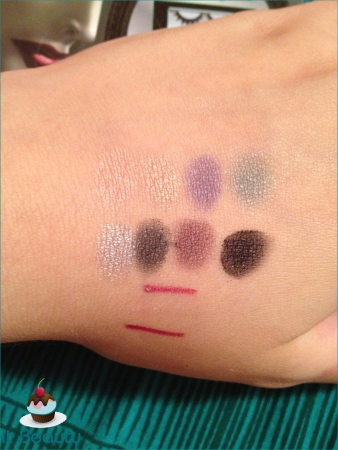 Maleficent paleta disney ELF swatch