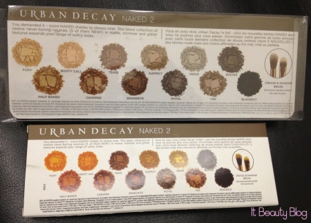 Urban Decay Naked 2 x replica verso