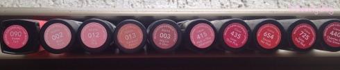 Batons Revlon cores