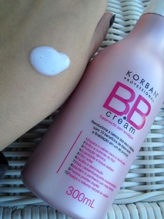 Korban BB Cream hair textura 10 em 1