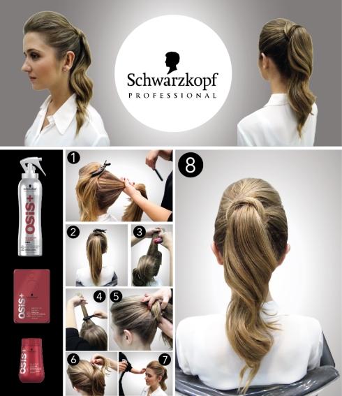 Schwarzkopf osis volume cabelo penteado