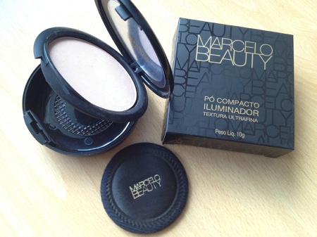 Marcelo Beauty pó compacto iluminador embalagem