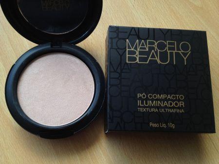 Marcelo Beauty pó compacto iluminador Lumina embalagem