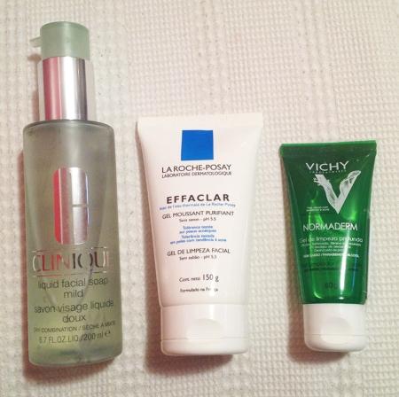 Rotina de cuidados com a pele limpadores faciais