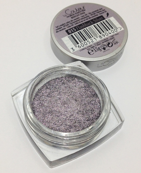 L'Oreal Infallible color eyeshadow Flashback Silver