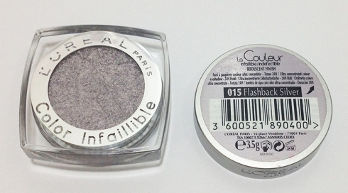 L'Oreal Infallible eyeshadow Flashback Silver
