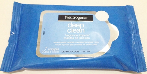 Neutrogena Deep Clean lenços