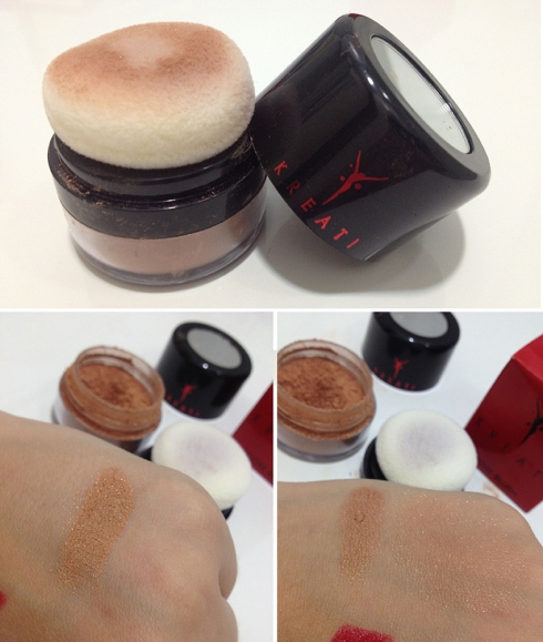 Kreati loose blush mineral cream peach swatch